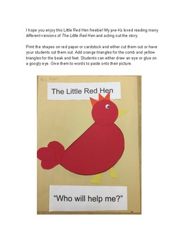 The Little Red Hen art project