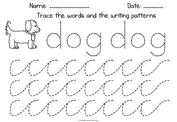The Little Red Hen early writing patterns