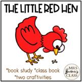 The Little Red Hen   Book Study, Class Book, Craftivities