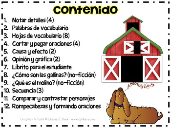 The Little Red Hen in Spanish