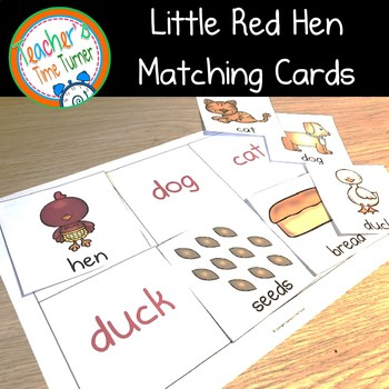 The Little Red Hen mix and match matching cards