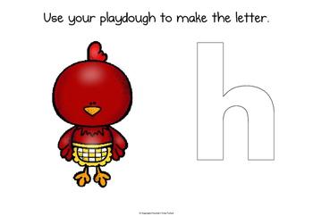 The Little Red Hen playdough mats