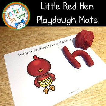 The Little Red Hen playdough mats