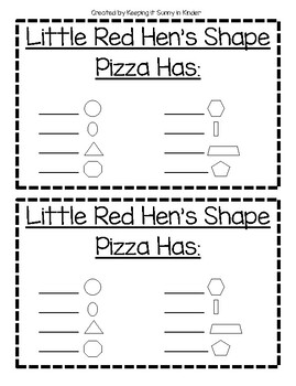 The Little Red Hen's Shape Pizza: Shape review and craft
