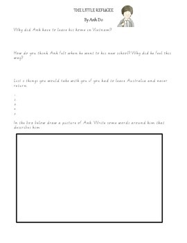 The Little Refugee By Anh Do - Comprehension Worksheet (Differentiated)