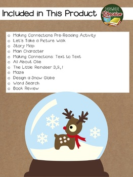 The Little Reindeer by Killen 11 Book Extension Activities NO PREP
