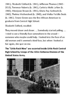 The Little Rock Nine Handout