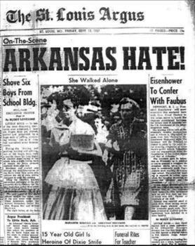 The Little Rock Nine Newspaper Front Page