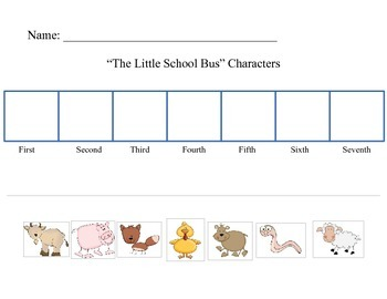 The Little School Bus Character Sequencing