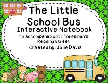 The Little School Bus Interactive Notebook Journal