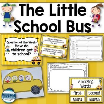 The Little School Bus Kindergarten Unit 1 Week 1