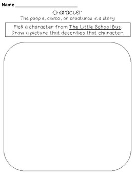 The Little School Bus- Writing Activities for the week