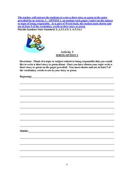 The Little Sparrow Adventure Lesson 1 Student Activity Sheets