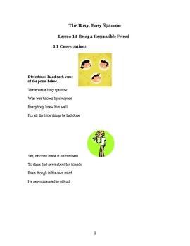 The Little Sparrow Adventure Life Skills Curriculum Lesson 1.7