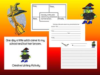 The Little Witch and the Missing Broom Writing Craftivity