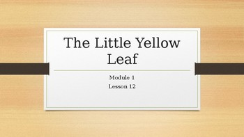 The Little Yellow Leaf Module 1 Lesson 12