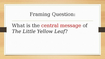 The Little Yellow Leaf Module 1 Lesson 13