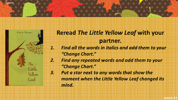 The Little Yellow Leaf (Wit & Wisdom, Module 1 Lessons 10 - 14)