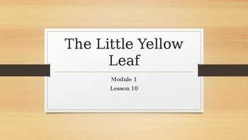 The Little Yellow Leaf powerpoint 2nd grade module 1 Lesson 10