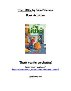 The Littles Book Activities also good for ESL