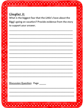 The Littles Comprehension Packet With Sample Answers