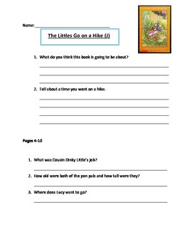 The Littles Go on a Hike Comprehension Questions