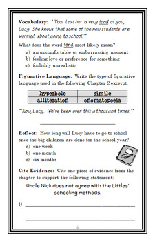 The Littles Go to School (John Peterson) Novel Study / Comprehension (23 pages)