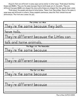 The Littles Literature Unit