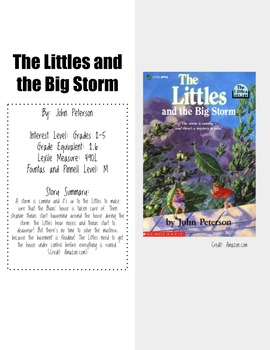 The Littles and the Big Storm Novel Unit with Chapter Comprehension Questions