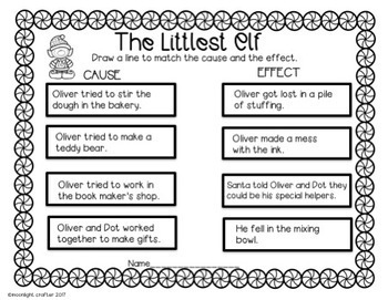 The Littlest Elf Book Companion with Math and Literacy Activities