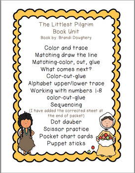 The Littlest Pilgrim  Book Unit