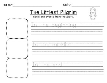 The Littlest Pilgrim- Thanksgiving Reading and Writing