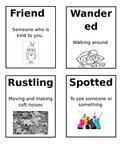 The Littlest Pilgrim Vocabulary Cards