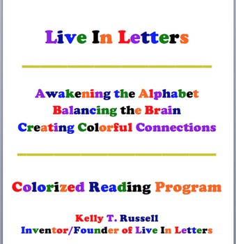 The Live In Letters Colorized Reading Program Autobiograph
