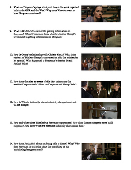 The Lives of Others Film (2006) Study Guide Movie Packet
