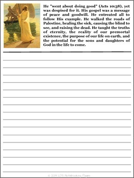 The Living Christ Copywork Notebook