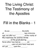 The Living Christ: The Testimony of the Apostles Fill-in-t