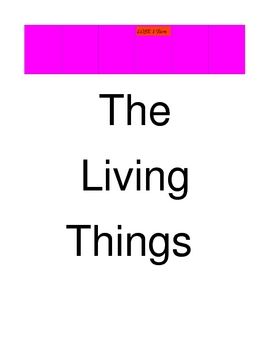 The Living Things BOARD GAME