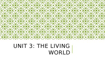 The Living World PowerPoint