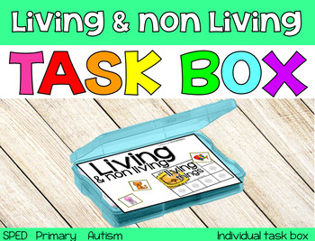 The Living & non Living Task Box {individual task box}