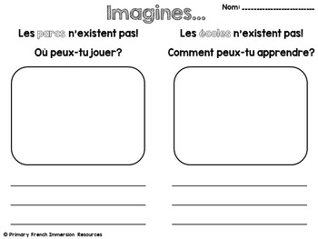 The Local Community - Grade 1 French Social Studies Unit