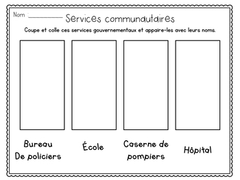 The Local Community-Grade 1 Ontario Social Studies (French)
