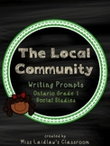 The Local Community Writing Prompts: Ontario Social Studies