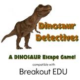 Dinosaur Detectives STEM Breakout / Escape Game for Grades 1-4
