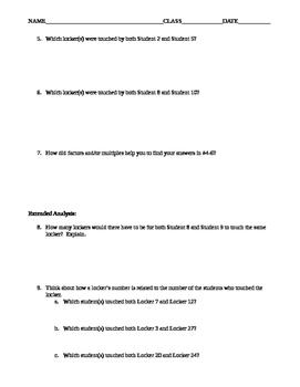 The Locker Problem (Packet)