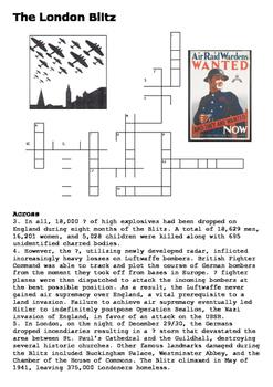 The London Blitz Crossword