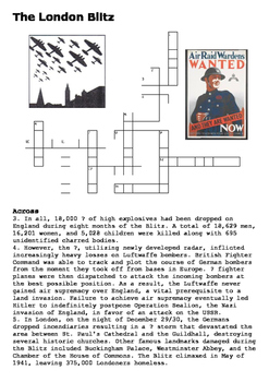 The London Blitz Crossword