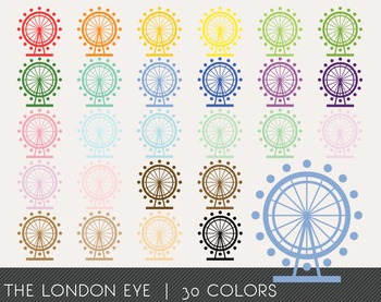 The London Eye Digital Clipart, The London Eye Graphics