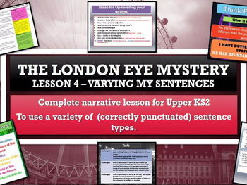 The London Eye Mystery - Lesson 4 -  using sentence variety  for effect