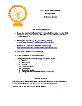 The London Eye Mystery Complete Novel Study PDF